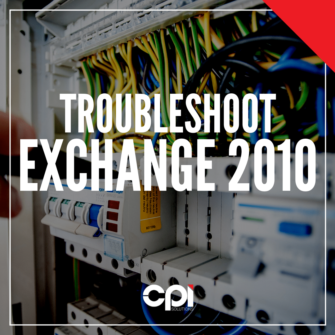 CPI - How To Exchange 2010