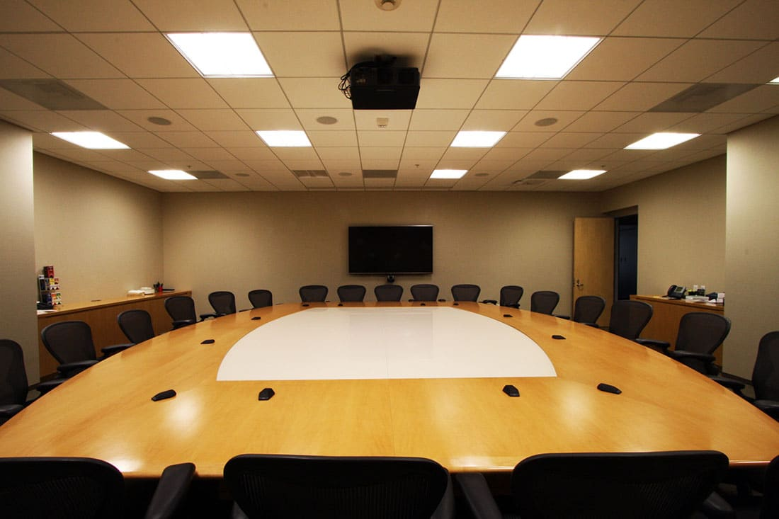 AMPTP conference room by our audio visual services.