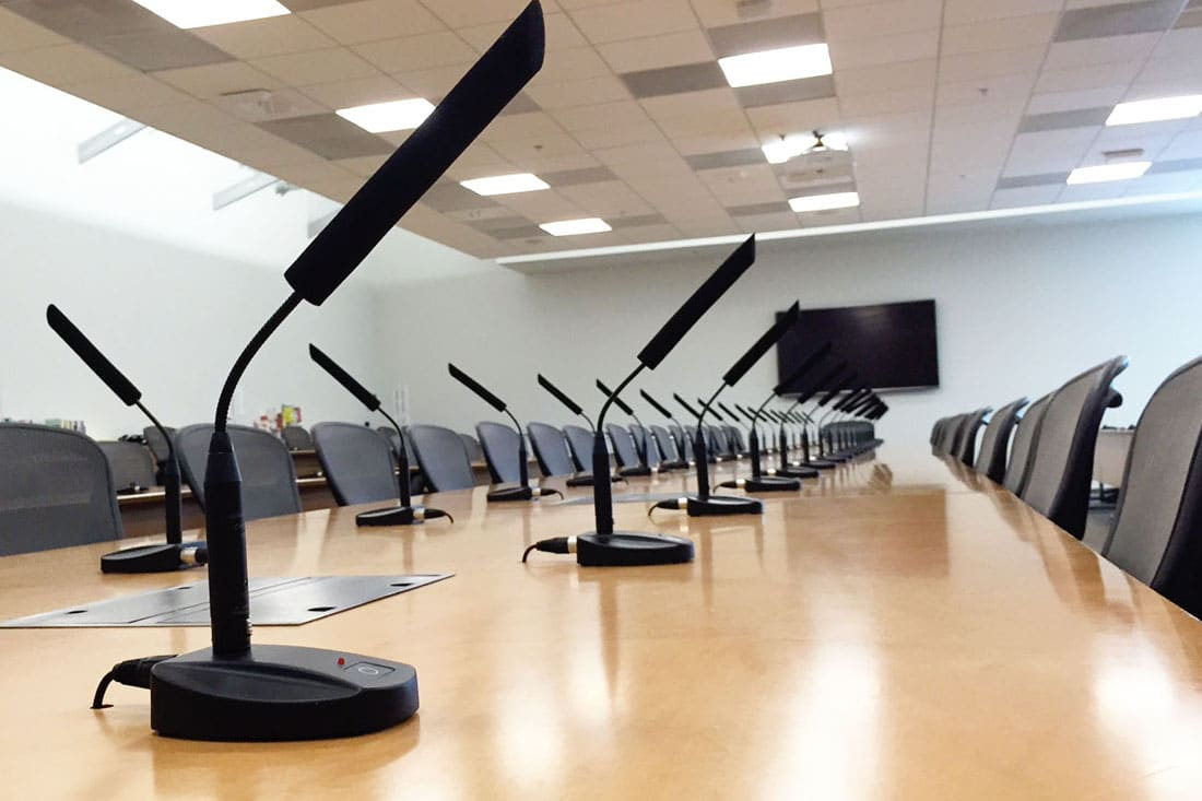 AV Managed Services for Conference room microphone solutions