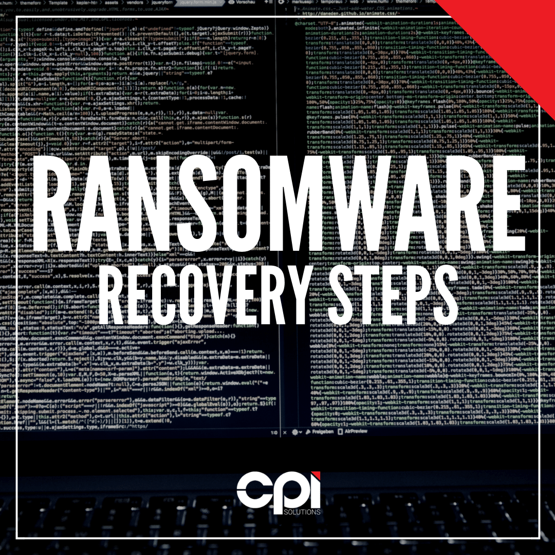 Ransomware Recovery Steps